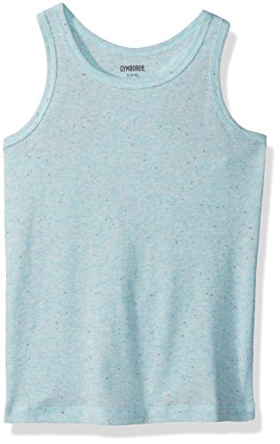 Gymboree Girls' Little Basic Racer Back Tank, Aqua Confetti, M