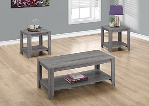 Three peace Coffee Table and Two End Tables Set, Features Open Concept Bottom Shelf Used for Extra Storage or to Display Your Favourite Pieces, Blends Well with Most Décor + Expert Guide