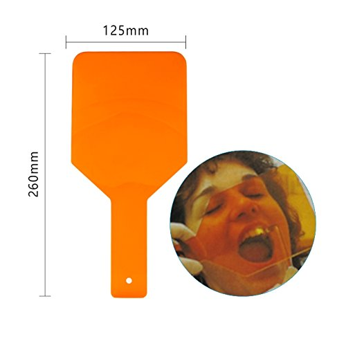 Easyinsmile Dental Clinic Eye-Protector Curing Light Shield Hand Shield Plate Orange 1pcs/pack