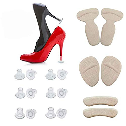 ?2019 New?High Heel Protectors - Heel Cushion Inserts - Metatarsal Pads - Heel Grips - One Pack can Solve All Problems of Shoes