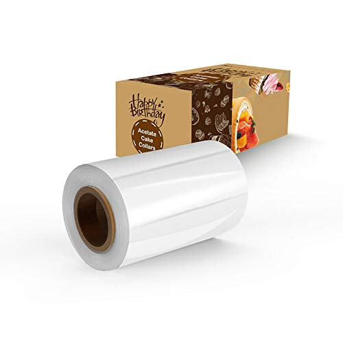 Cake Collar, MR.VP Acetate Roll(4 Inch 32.8 Feet) Transparent Chocolate Mousse Collar Baking Surrounding Edge Decorating Acetate Sheet