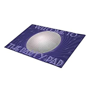 IanRosa Party Pad Welcome Monogrammed Door Mat Par Tay Commercial Entrance Mats