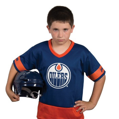 Franklin Sports NHL Edmonton Oilers Youth Team Set - Hockey Player Costume For Kids