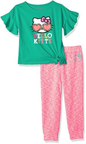 Hello Kitty Big Girls' Jogger Pant Set with Fashion Top, Ceramic, 10