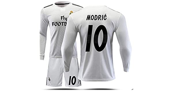 3bce19a92 LISIMKE Real Madrid Home Luka Modric #10 Jersey 2018/2019 Men's Soccer (S)  at Amazon Men's Clothing store: