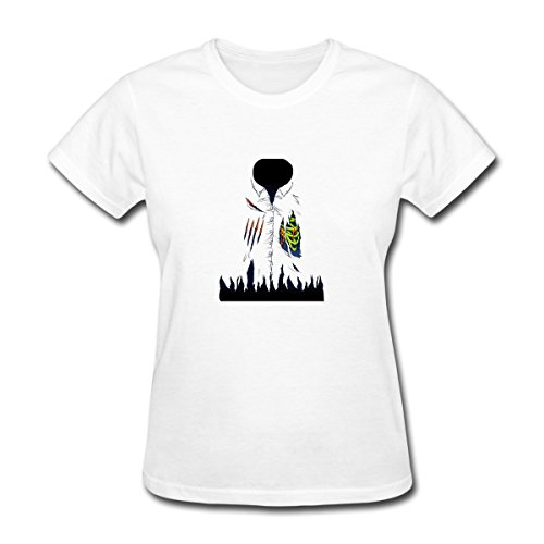 Renting Zombie Attack Costume t Shirt For Women Cute Cotton Tee Short Sleeve Size L White