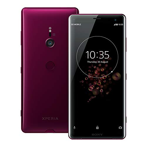 Bordeaux Stock - Sony Xperia XZ3 (H9493) 6GB / 64GB 6.0-inches LTE Dual SIM Factory Unlocked - International Stock No Warranty (Bordeaux Red)
