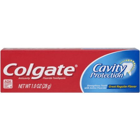 Colgate Cavity Protection Fluoride Toothpaste, Great Regular Flavor, Travel Size TSA Aproved, 1 Ounce…