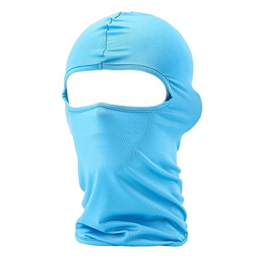 Xiabing Classic Lightweight Lycra Ski Face Mask Bicycle Sports Balaclava Helmet (Light Blue)