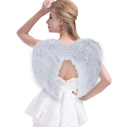 Halloween Store Victoria (Sunboom Angel Wing Feather Halloween Costume, Cosplay Christmas Wings for Kids and Adults, White Large Angel)