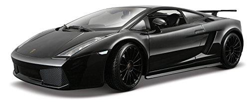 2007 Lamborghini Gallardo Superlegerro in Metallic Black - Special Edition , , Features include:, , Die-cast metal body with plastic details, , Doors and hood open, , Steerable front wheels, , Four wheel suspension,