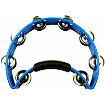 RhythmTech RT1040 Tambourine, Nickel Jingles, Blue