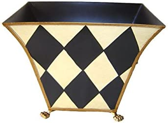 6 Hand Painted Metal Toles-Harlequin Design