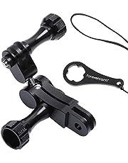Forevercam Supporto con Giunto sferico in Alluminio Girevole a 360°, Compatibile con GoPro Max Hero 8, 7, 6, 5, 4, Fusion, DJI Osmo e Altre Action Camera.