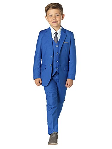 Paisley of London, Sampson Slim Fit Suit, Boys Occasion Wear, Kids Wedding Suit, Blue, X-Large