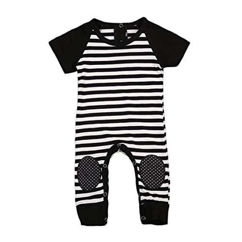 Newborn Infant Baby Boys Striped Romper Jumpsuit Bodysuit Warm Clothes Outfits With Kneepad