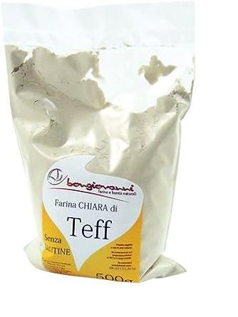 Farina di Teff chiara 500g senza glutine: Amazon.es ...