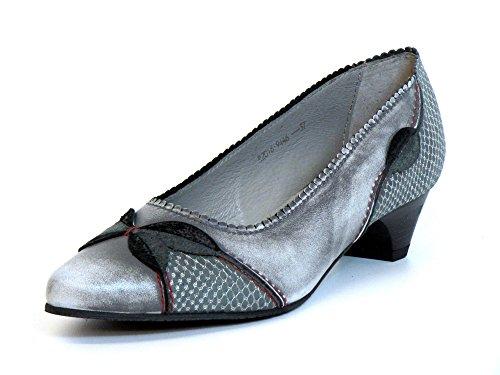Women Pumps grey, (grau-kombi) 09446 GRAU grau-kombi