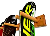 StoreYourBoard Timber Ski Wall Rack, 4 Pairs of