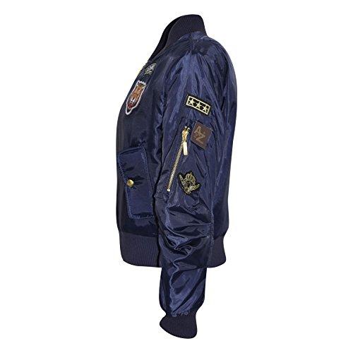 7 Acolchado os Chaquetas Ma1 10 12 4 Azul A marino 6 Abrigo Bomber 8 Insignias os 13 2 3 Edad Zip A2z Ni os 9 5 11 Biker Chaqueta Ni Chicos Hq7BPBW8p