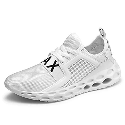 Closeout Athletic Shoes - HULKAY Mens Womens Running Shoes Lightweight Athletic Tennis Sneakers(White,US:8/CN:41)