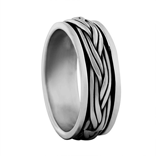 Sterling Silver Braided Spinner Ring Size 13.5 ()