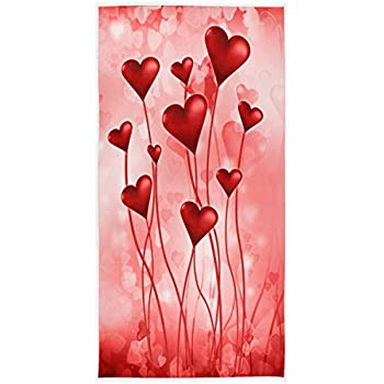 Extra Large Hand Towels Flower Fairy Butterflies Hearts Love Flowers Ultra Soft Highly Absorbent Bath Towel Multipurpose Bathroom Towel for Hand,Face,Gym and Spa 16x30 IN Valentines Day Decorations