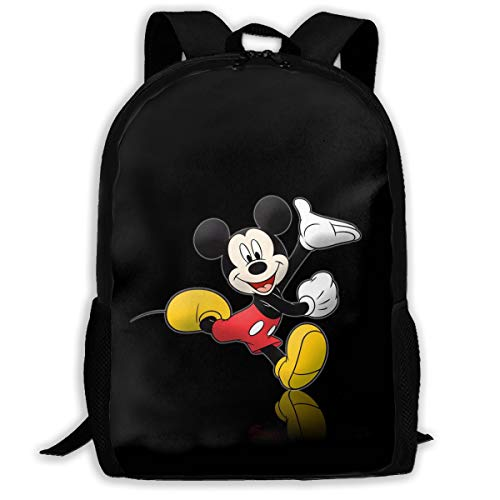 (CHLING Lightweight Backpack Briefcase Laptop Shoulder Bag Mickey and Minnie Mouse Classic Basic Water Resistant Daypack)