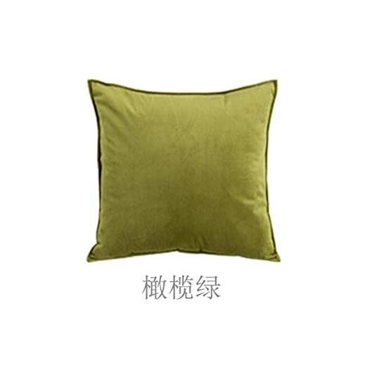 nuobaby - Cojín Decorativo (Terciopelo), Verde, 45 x 45cm ...