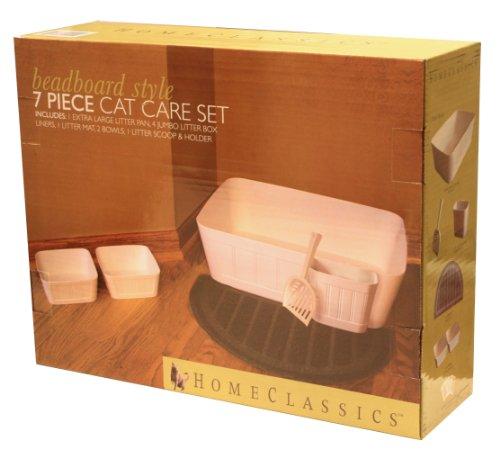 Home Classics 7-Piece Beadboard Cat Care Set, My Pet Supplies