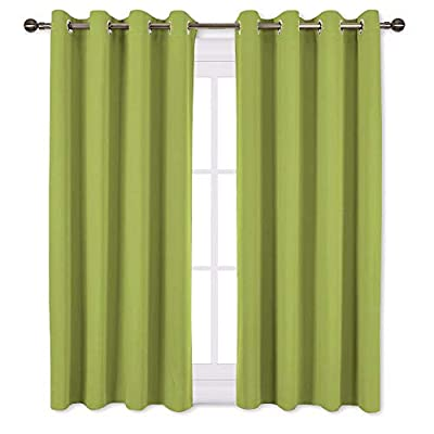 NICETOWN One Pair Solid Grommet Blackout Curtains (Regular) by NICETOWN