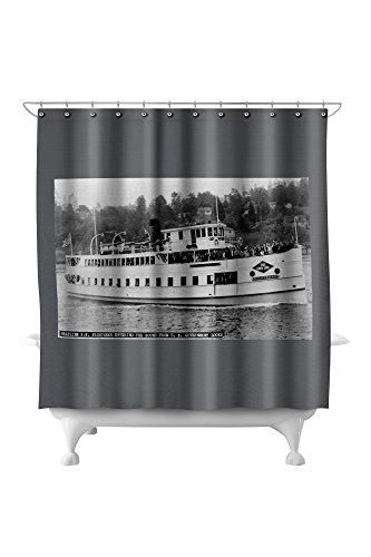 Seattle, WA - SS Sightseer Ship Entering Puget Sound from Ballard Locks (71x74 Polyester Shower Curtain) ()