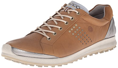 ECCO Men's Biom Hybrid 2 Golf Shoe, Camel/Oyster, 46 EU/12-12.5 M US (Golf Shoe Camel)