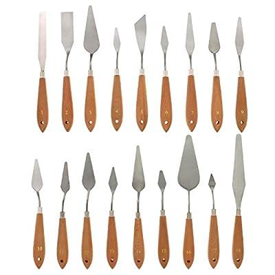 US Art Supply 18-Piece Artist Palette Knife Set