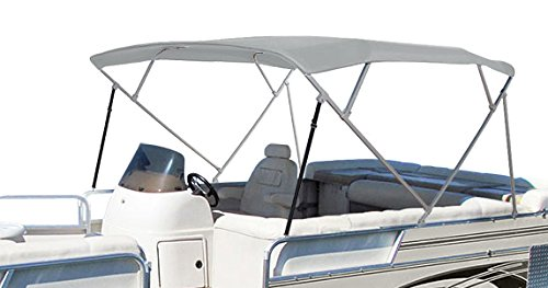 SUMMERSET by Eevelle Premium Bimini 4 Bow Canvas Top, 96 x 103-Inch, Silver
