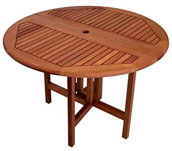 Amazon.com : Arboria Round Patio Table 42 Inch Diameter Drop Leaf ...