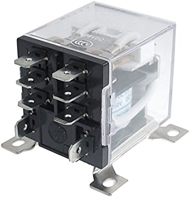 urbest 8 pin jqx 12f 2z dc 12v 30a dpdt general purpose power relay for remote control, automatic control system 8 Blade Dpdt Relay Wiring Diagram