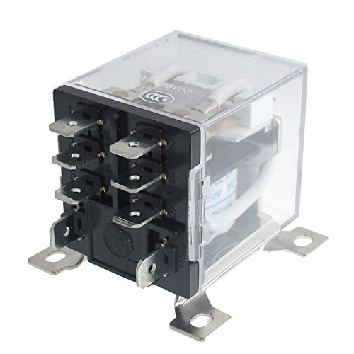 12v Ac Dpdt Relay - URBEST 8 Pin JQX-12F 2Z DC 12V 30A DPDT General Purpose Power Relay for Remote Control, Automatic Control System