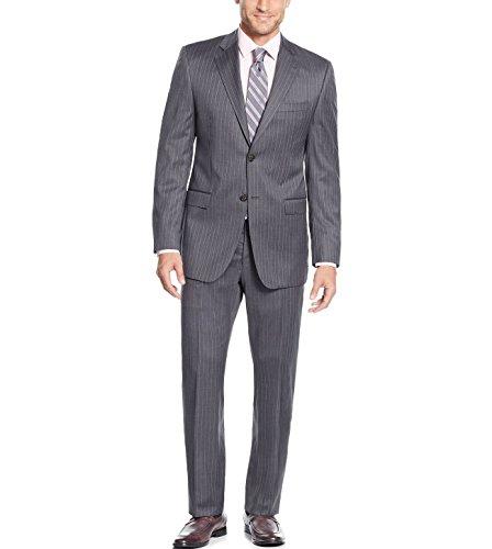 Lauren Ralph Lauren Slim Fit Stripe 2 Piece 100 % Wool Men's Suit LUBB21RZ1860 Medium (Ralph Lauren Pinstripe Suit)