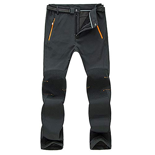 Men Couple Waterproof Windproof Outdoor Hiking Warm Winter Thick Pants Trousers Gray