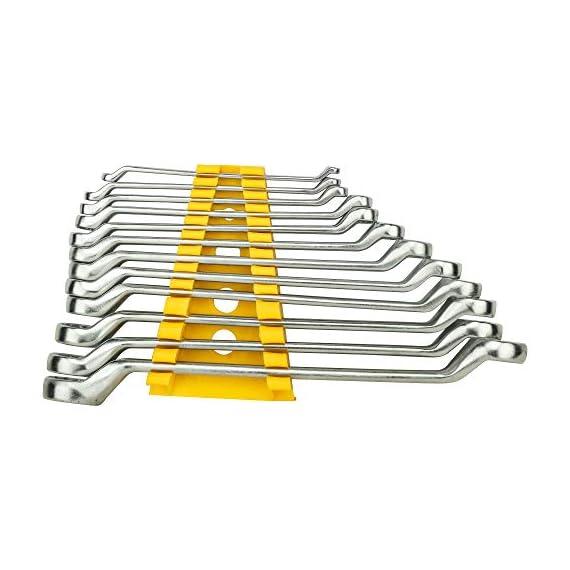 STANLEY 70-394E Matte Finish Shallow Offset BI HXRing Spanner Set (12-Pieces), Chrome 2
