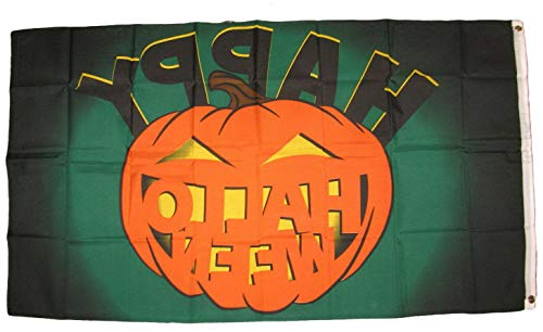 Mikash 3x5 Happy Halloween Scary Pumpkin Flag 3x5