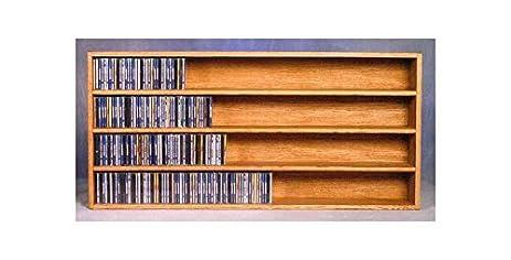 Wall Mount CD Storage w 4 Shelves (Honey Oak)  sc 1 st  Amazon.com & Amazon.com: Wall Mount CD Storage w 4 Shelves (Honey Oak): Home ...