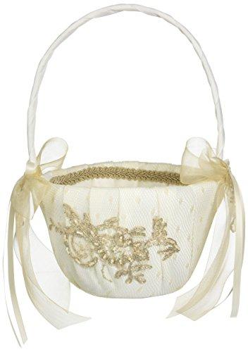 Bella Donna Wedding Accessories Flower Girl Basket, Ivory ()