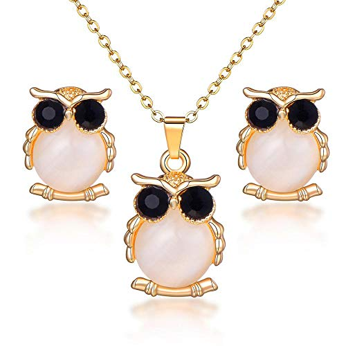 Opal Jewelry Sets P ent Necklace Stud Earrings Crystal Natural Cat's Eye Stone Crystal Jewelry Set For Women F1141