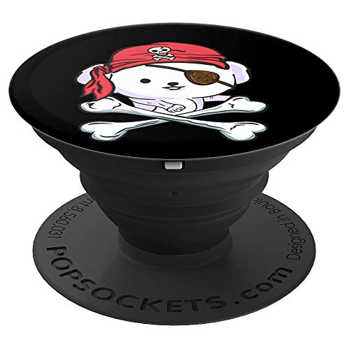 Funny Bichon Frise Pirate Halloween Dog Lover Gift - PopSockets Grip and Stand for Phones and Tablets -