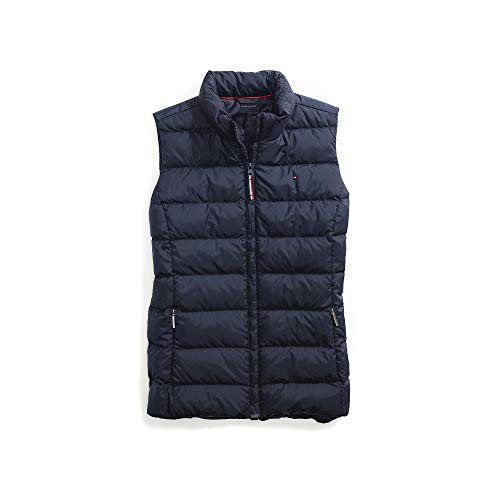 - Tommy Hilfiger Women's Adaptive Puffer Vest with Magnetic Zipper, Masters Navy, X-Large