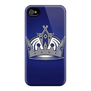 Shock Absorption Hard Phone Case For Iphone 4/4s (JaQ15709jqAV) Custom High-definition Los Angeles Kings Pattern