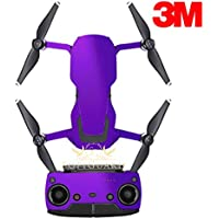 SopiGuard 3M Gloss Purple Precision Edge-to-Edge Coverage Vinyl Sticker Skin Controller 3 x Battery Wraps for DJI Mavic Air