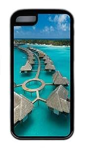 Bora Bora TPU Case Cover for iPhone 5C and iPhone 5C Black